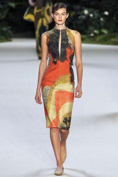 orange batik tie die dress - akris - spring 2013 rtw