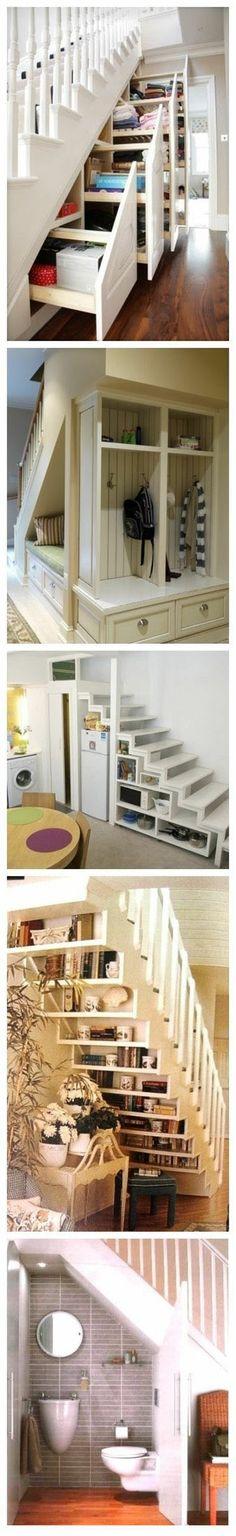 Használd ki a helyet a lépcső alatt