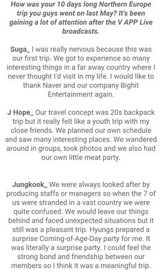Suga, J-Hope and Jungkook ❤ #BTS #방탄소년단 Interview Questions For STAR1 Magazine Vol.53 ~ August 2016 issue.