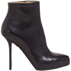 Maison Martin Margiela Defile Women's Narrow Heel Trunk Boots ($905) ❤ liked on Polyvore