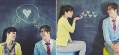 Chalkboard background idea for a student photo shoot. We obviously changed up and left out the lovey dovey stuff!