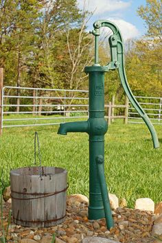 Water from a pump well is so cold and good - Schoolhouse Country Gardens