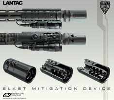 Lantac Generation II BMD®. Shown here with SPADA-ML Handgaurd, Surefire Scoutlight Magpul MBUS Pro and Magpul M-Lok Rail Panels...
