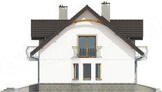 Elewacja lewa projektu Dom Dla Ciebie 3 bez garażu [B] Home Fashion, Dom, Gazebo, Outdoor Structures, Cabin, House Styles, Villas, Home Decor, Kiosk