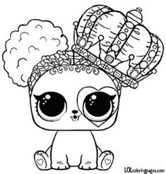 lol surprise doll coloring pages heart barker coloring page