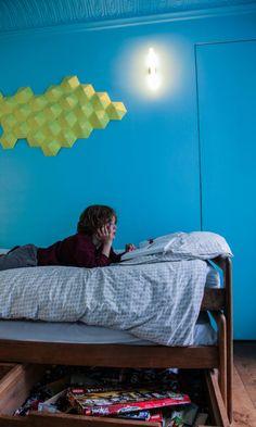 Chambre Bleue Enfant Déco Appartement Paris Marie Soudré Richard