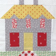 """I've been building some   """"Home Sweet Home"""" blocks   that will become a new quilt   for my family room.     You may have already see..."""