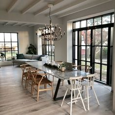 Home Decoration For Christmas House Doctor, Kitchen Interior, Interior And Exterior, Rooms Ideas, Home Room Design, Dining Table, Dining Area, Wooden House, Scandinavian Interior
