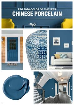 PPG 2020 Color of the Year: Chinese Porcelain - PPG 2020 Color of the Year: Chi. PPG 2020 Color of the Year: Chinese Porcelain - PPG 2020 Color of the Year: Chinese Porcelain - interiors Most Popular Bedroom Wall Colors, Room Paint Colors, Paint Colors For Living Room, Paint Colors For Home, House Colors, Blue Wall Colors, Best Blue Paint Colors, Blue Bedroom Walls, Warm Grey Walls