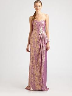 Badgley Mischka Strapless Silk Gown.  Fabulous gown.