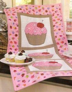 #trilho #de #mesa #patchwork #rosa #sewing #cereja