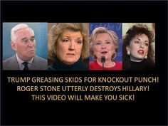 """This Video Is Very Disturbing! Roger Stone Annihilates Hillary """"Your Only Way To Beat Her""""! - YouTube"""