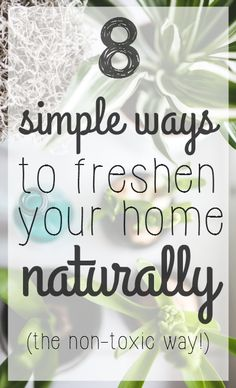 8 ways to naturally freshen up your home, the non-toxic way. Learn how to clean the air and remove the odors from your home for a revitalizing space.