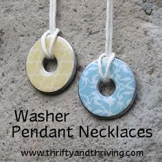 Washer Pendant Necklaces--an easy and inexpensive craft or gift idea.