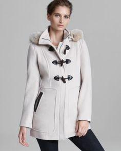 Marc New York Coat - Plush Fur Trim Hood  Bloomingdale's
