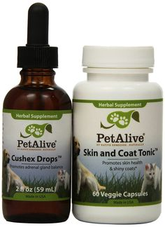 Pet Alive Cushex Drops and Skin and Coat Tonic Combo Pack -- Insider's special review you can't miss. Read more  (This is an amazon affiliate link. I may earn commission from it)