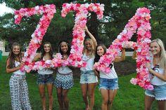 Zeta Tau Alpha at Michigan State University #ZetaTauAlpha #ZTA #Zeta #BidDay #letters #sorority #MSU