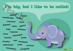 Big Synonym Poster Teaching Resource