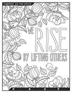 Coloring Pages with Affirmation for Meditation Practice