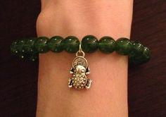 $8 Green Lucky Frog Stretch Bracelet