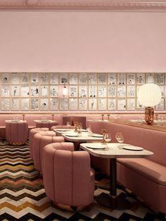 Le restaurant du Sketch à Londres vient de lever le voile sur son nouveau décor, signé par India Mahdavi et l'artiste David Shrigley.