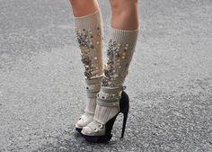 DIY ACCESSORY INSPO | Bedazzled socks