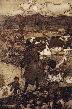 1904 - 1905 Rip Van Winkle  Arthur Rackham's illustration