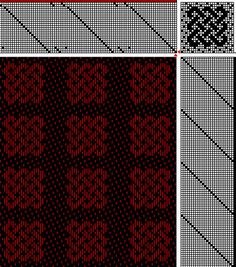 24 shaft weaving   three strand knot 24-shaft weaving draft with satin background