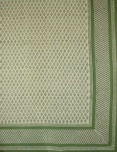 Oblong Tablecloth in Green Herb Design (150 X 225cm)