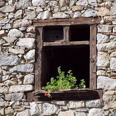 Si mai passes sota aquesta finestra, para't, olora i endevina... De botifarra negra amb ceps, de cuixetes de guatlla o potser el de muntanya? Sigui quin sigui l'arròs que et faci la Pepa de #Callliuret, sempre et lleparas els dits amb les millors vistes del #Cadí!