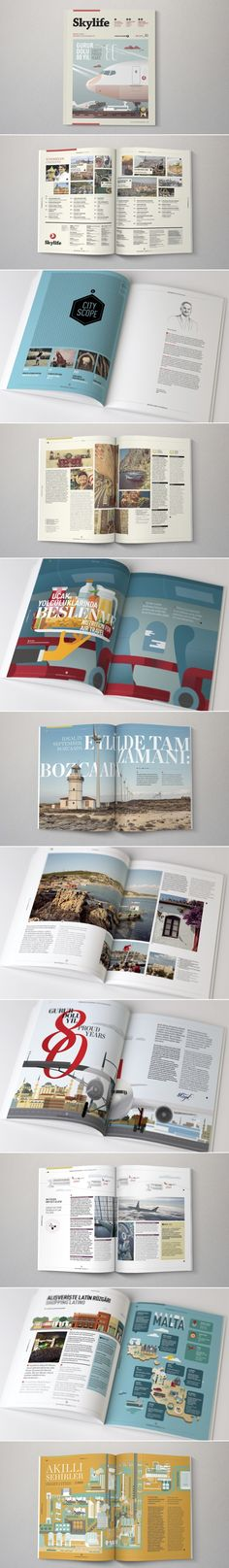Turkish Airlines: Skylife Inflight Magazine redesign by The Design Surgery