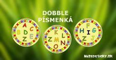 Vytlačte si zadarmo zábavnú hru DOBBLE - písmenká a zahrajte sa spolu s deťmi.