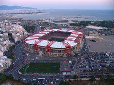 Giorgios Karaiskakis Stadium (Athens, Greece) By Stelios Aghiostratitis Soccer Stadium, Study Abroad, Futuristic, Fair Grounds, Architecture, Sports, Travel, Passion, Athens Greece