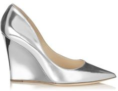 Jimmy Choo Trey  Mirror Leather Pointy Toe Wedges on shopstyle.com