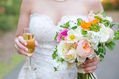 Katie & Reed's Vintage Chic  Wedding at Legare Waring House // Photographer: @dcubbagephoto// Gown: Allure Romance// Florals: Stephanie Gibbs Events// Mens' Attire: Jos A Bank #weddingdress #bride #weddingbouquet
