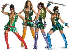 ninja turtle costumes for women   Scarves u0026 Skulls - Why Do Womenu0027s Costumes Have to  sc 1 st  Pinterest & 35 best Ninja Turtles Costumes images on Pinterest   Adult costumes ...