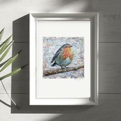 Torn Paper, Fine Paper, Collage Artwork, Collage Artists, Robin Bird, A4 Size, Shape And Form, Bird Art, A3
