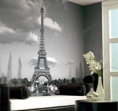 Murals are a great way to brighten up a small studio apartment while reminding one of the dream of future travel abroad.