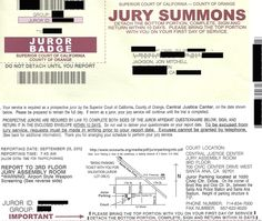 I'm Reporting for Jury Duty on Tuesday!    Not too long ago I received this Jury Summons from the Orange County Superior Court. I'm embarrassed to admit that at first, I wasn't very excited to be down at the courthouse at 7:45 a.m. and possibly lose a week or two from work. I think most people probably feel the same way. But then… http://jacksonandwilson.com/mitch-has-jury-duty