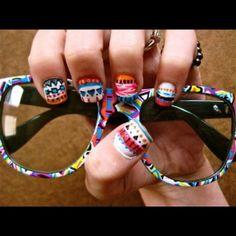 Tribal nails & sunglasses.