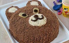 Torta Orsetto per compleanni (semplicissima e veloce e senza stampo)