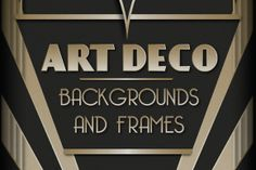 Art Deco Backgrounds and Frames ~~ SALE! To celebrate the release of the new Great Gatsby movie and for the love of all things Deco, this set is now on sale at %25 OFF! Only until June 1st.    Add a touch of Gatsby glamour to your work with this collection of 6 Art Deco inspired backgrounds a…