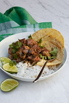 Pork-and-Green Chile Stew // More Fast Pork Recipes: http://www.foodandwine.com/slideshows/fast-pork-recipes #foodandwine