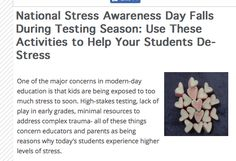 High Stakes Testing, Too Much Stress, Inclusive Education, Inclusion Classroom, Student, Activities