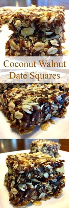 Coconut Walnut Date Squares have heart healthy oats, they're naturally sweetened, high in fiber, rich in nutrients and full of flavor! These delicious squares also happen to be vegan, gluten-free and dairy-free.