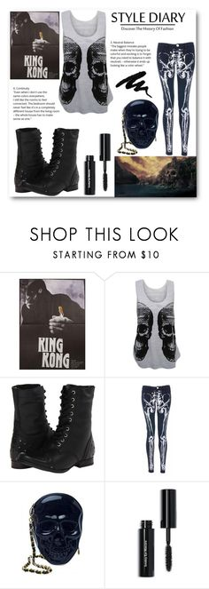 """""""Skull Island"""" by bethany-whisper ❤ liked on Polyvore featuring WearAll, Naughty Monkey, Iron Fist and Bobbi Brown Cosmetics"""
