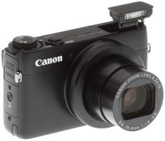 Canon G7 X Review -- 3/4 right view with flash up