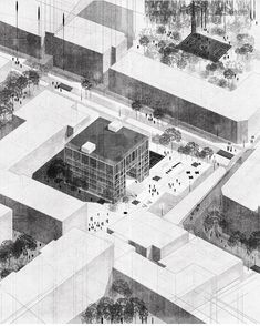 Drawing by Diana Avery.kaluhova — Want to be featured? Architecture Collage, Architecture Graphics, Architecture Visualization, Architecture Drawings, Architecture Portfolio, Landscape Architecture, Architecture Design, Diana, Axonometric Drawing