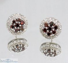 1.00 Ct. Ruby and Diamond Earrings