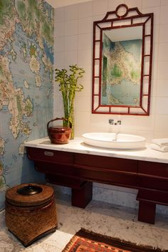 framed old world map decorating ideas pictures in bathroom asian design ideas